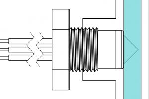 Flow sensing inside pipework