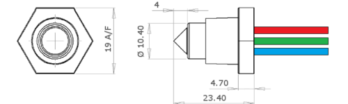 Optomax Basic Liquid Level Switch drawing