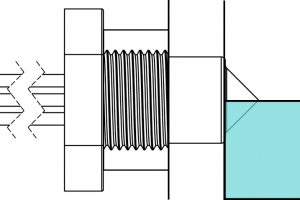 Level sensing in a tank wall