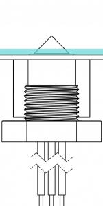 Level / condensate in a drip tray