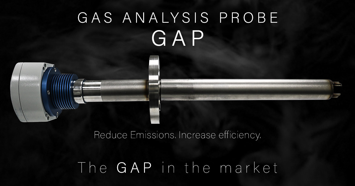 GAP Gas Analysis Probe for Boiler/Burner Combustion Efficiency.