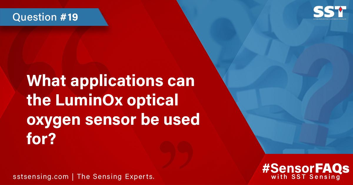 LuminOx optical oxygen sensor applications
